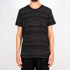 T-shirt Stockholm Jacquard Stripes Black