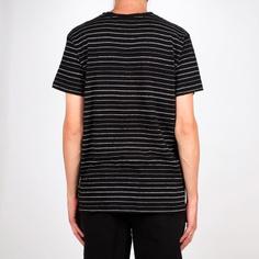 T-shirt Stockholm Jacquard Stripes Black