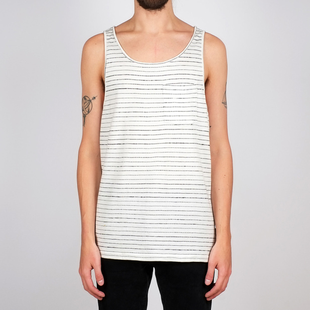 Tank Top Falkenberg Jacquard Stripes Off-White