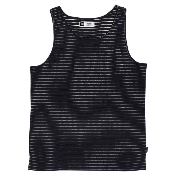 Tank Top Falkenberg Jacquard Stripes Black