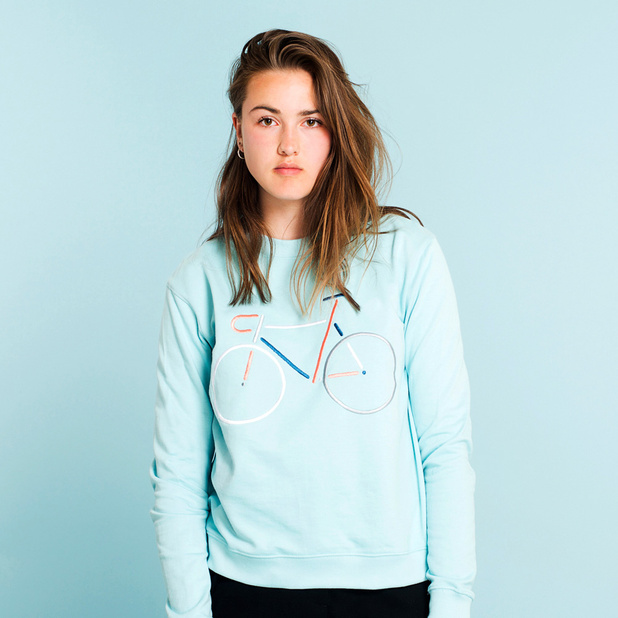 Sweatshirt Ystad Color Bike Beach Blue