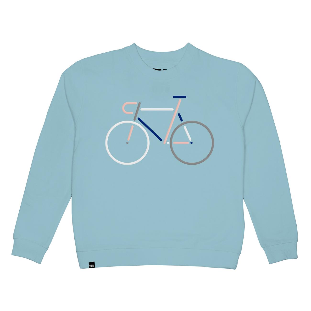 Sweatshirt Ystad Color Bike Beach Blue