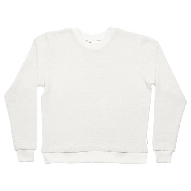 Sweatshirt Ystad Waffle White