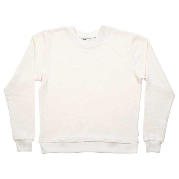 Sweatshirt Ystad Full Jacquard Off-White