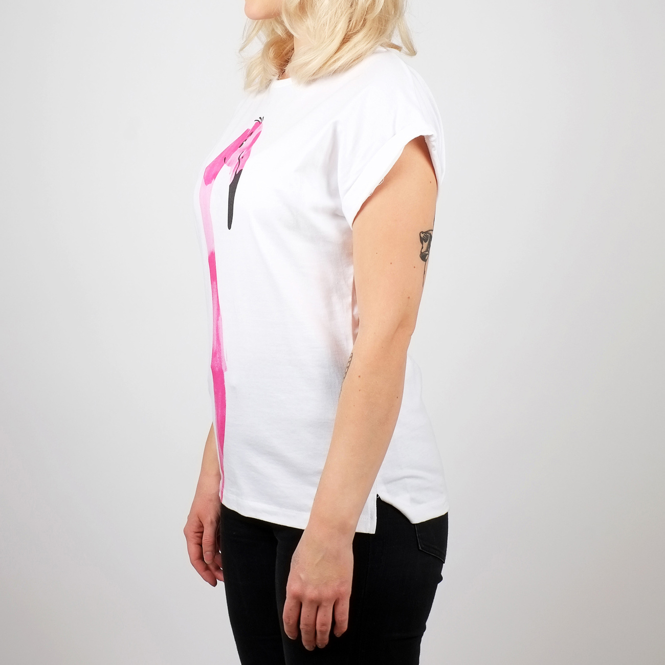 T-shirt Visby Drawn Flamingo