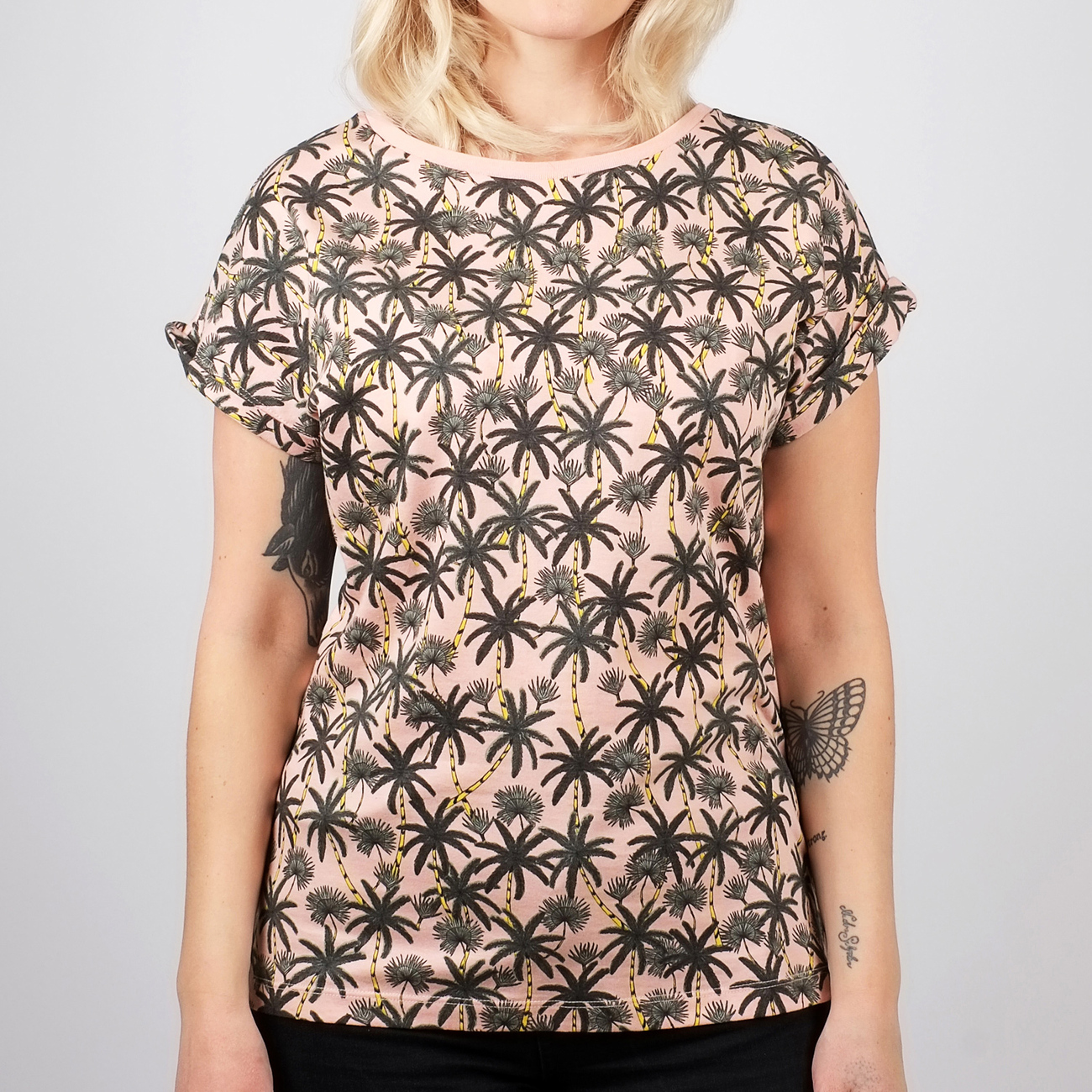 T-shirt Visby Beach Palms Mellow Pink