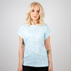 T-shirt Visby Ink Waves White