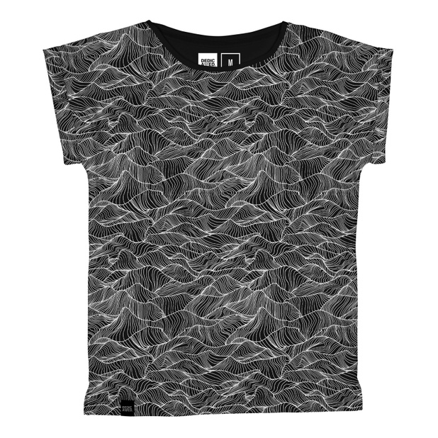 T-shirt Visby Ink Waves Black
