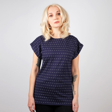 T-shirt Visby Stripe Dots Navy