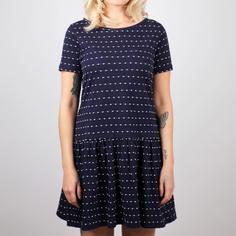 Dress Sandvig Stripe Dots Navy