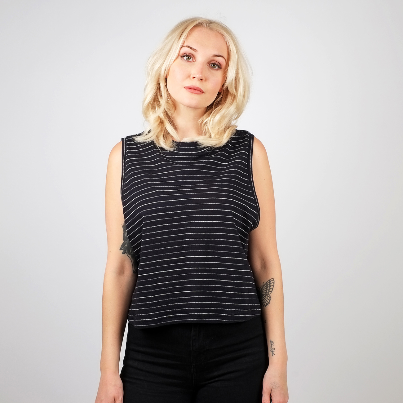 Top Namsos Jacquard Stripes Black