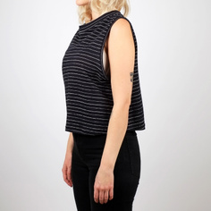 Top Namsos Jacquard Stripes Black