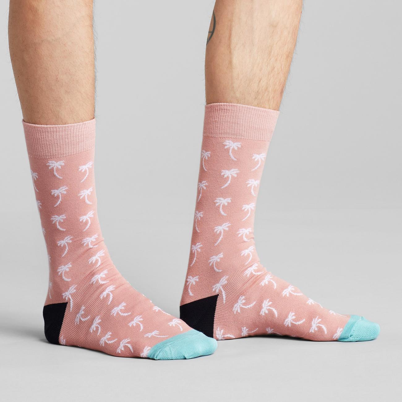 Socks Sigtuna Palms Pink