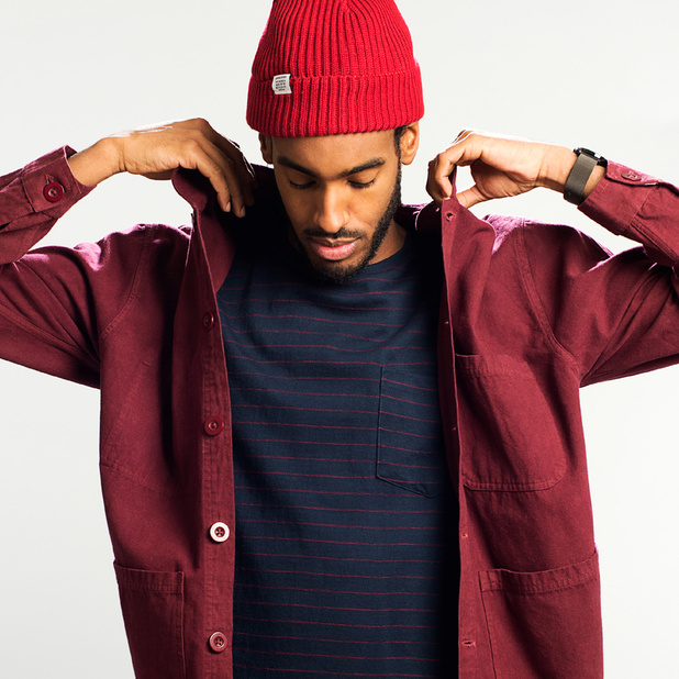 Worker Jacket Sala Burgundy