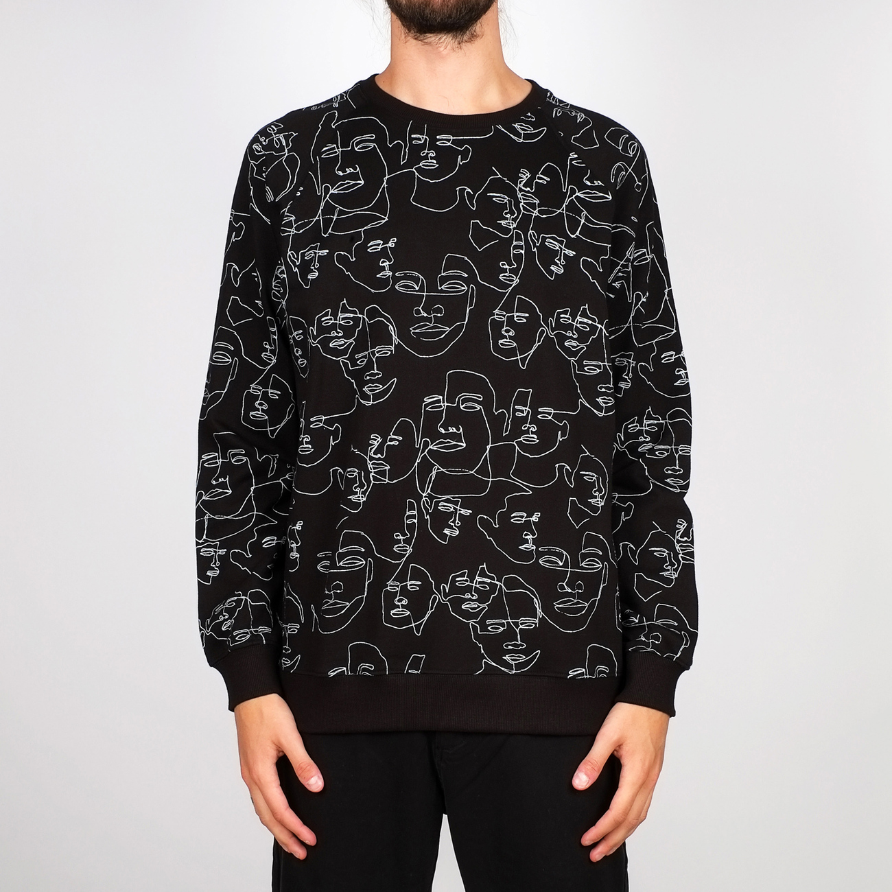 Sweatshirt Malmoe Faces Black