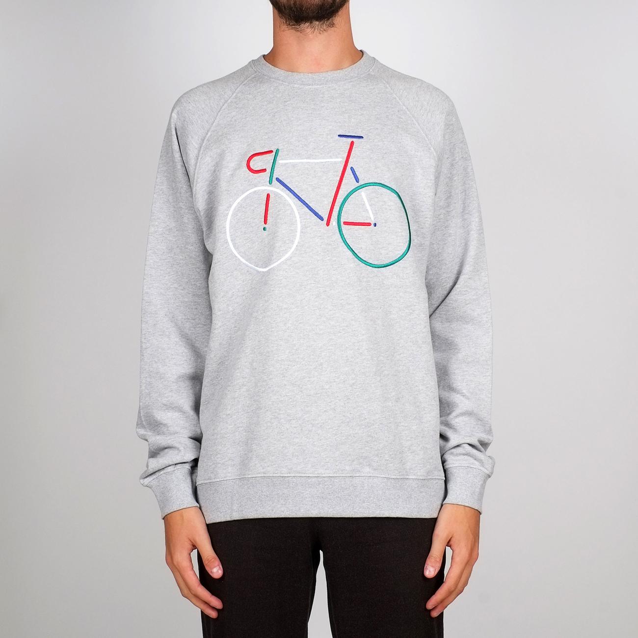 Sweatshirt Malmoe Color Bike Embroidery