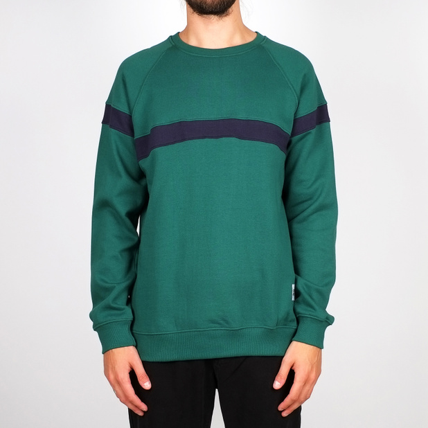 Sweatshirt Malmoe Stripe Evergreen
