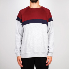 Sweatshirt Malmoe Stripe Grey Melange