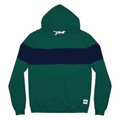 Hoodie Falun Stripe Evergreen