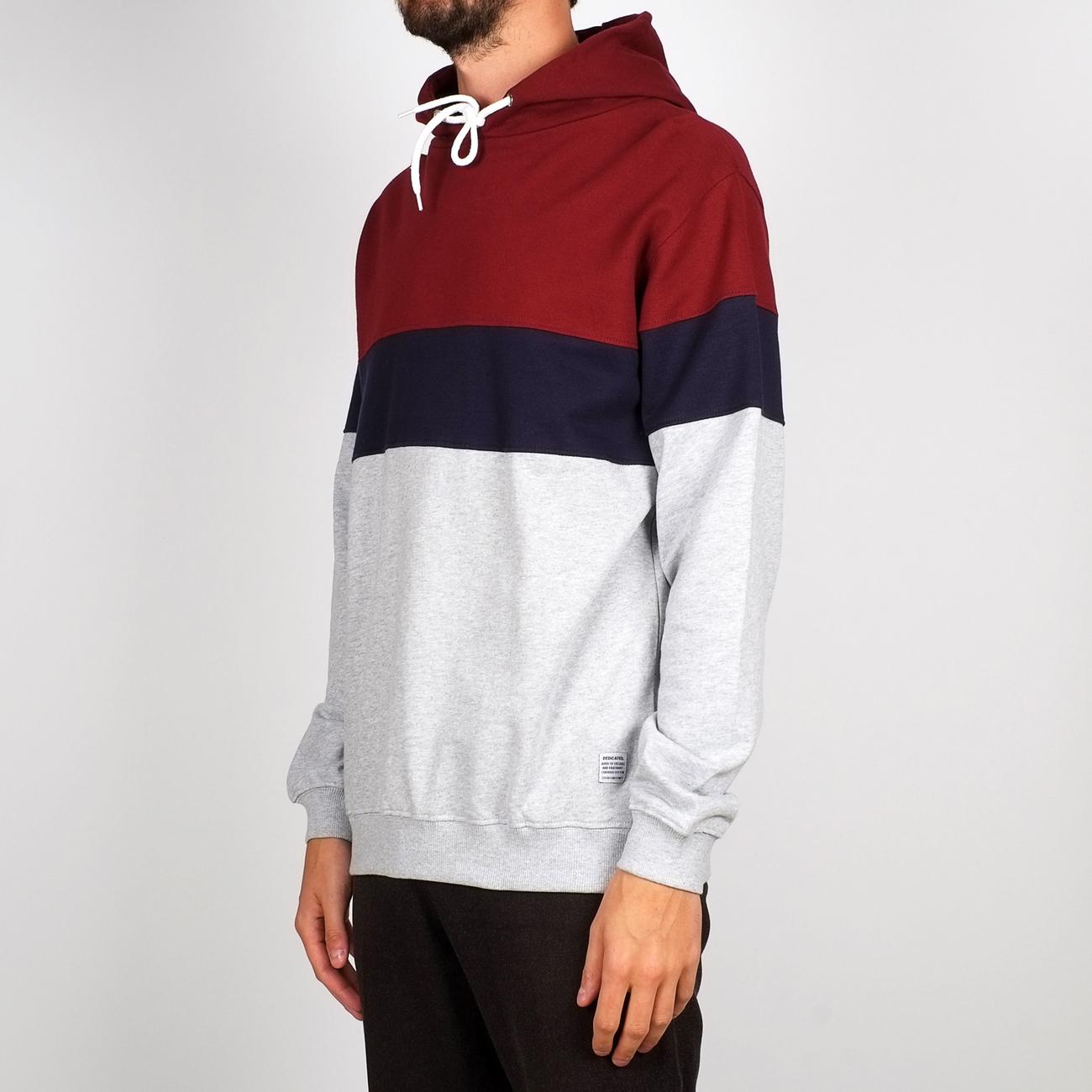 Hoodie Falun Stripe Burgundy