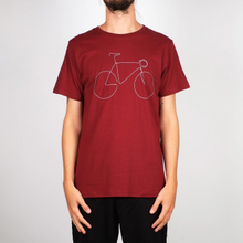 T-shirt Stockholm Bicycle Burgundy