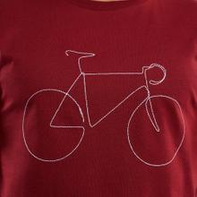 T-shirt Stockholm Bicycle Burgundy