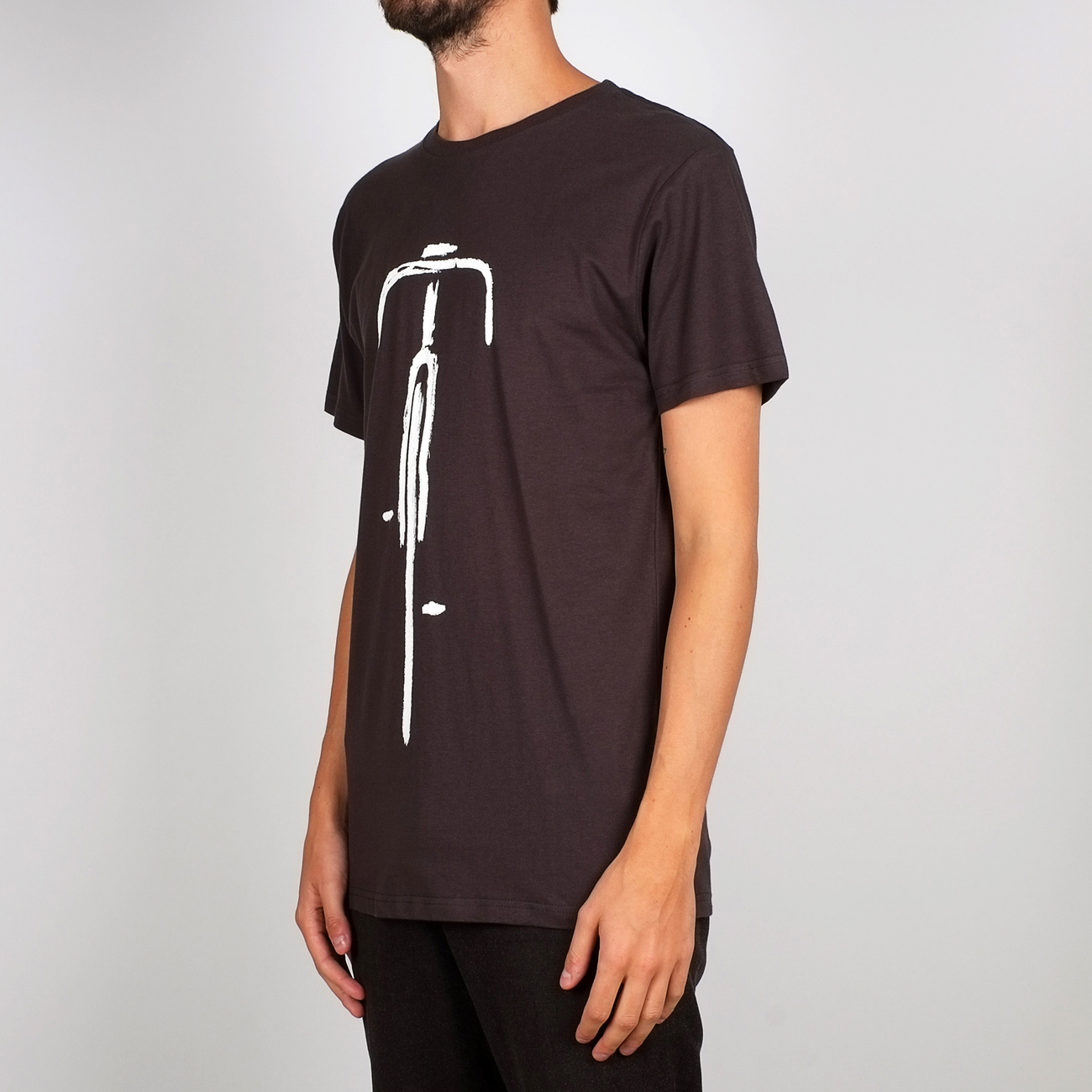 T-shirt Stockholm Bike Front Charcoal