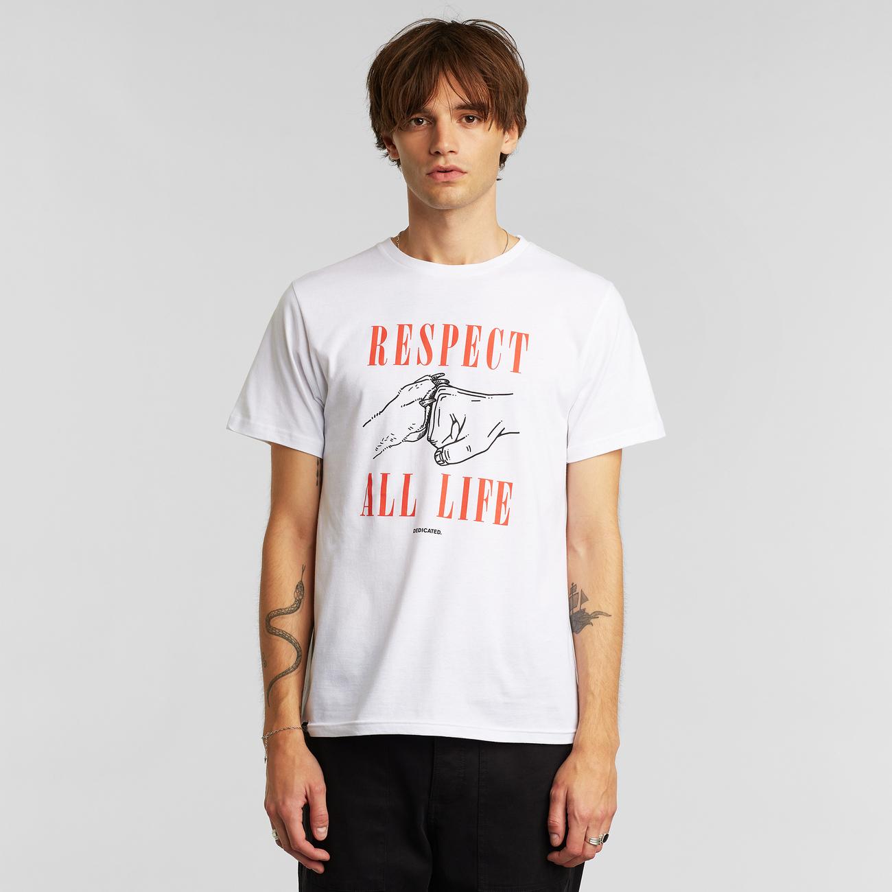 T-shirt Stockholm Respect Life White