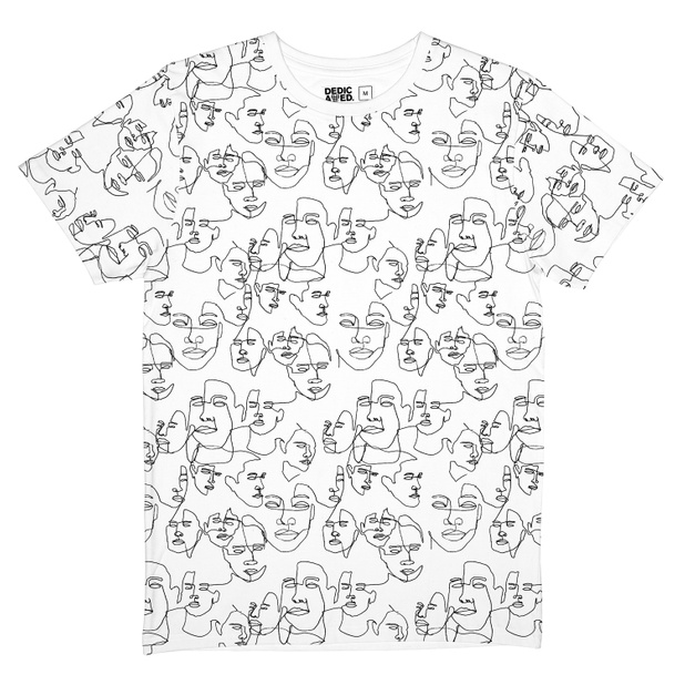 T-shirt Stockholm Faces White