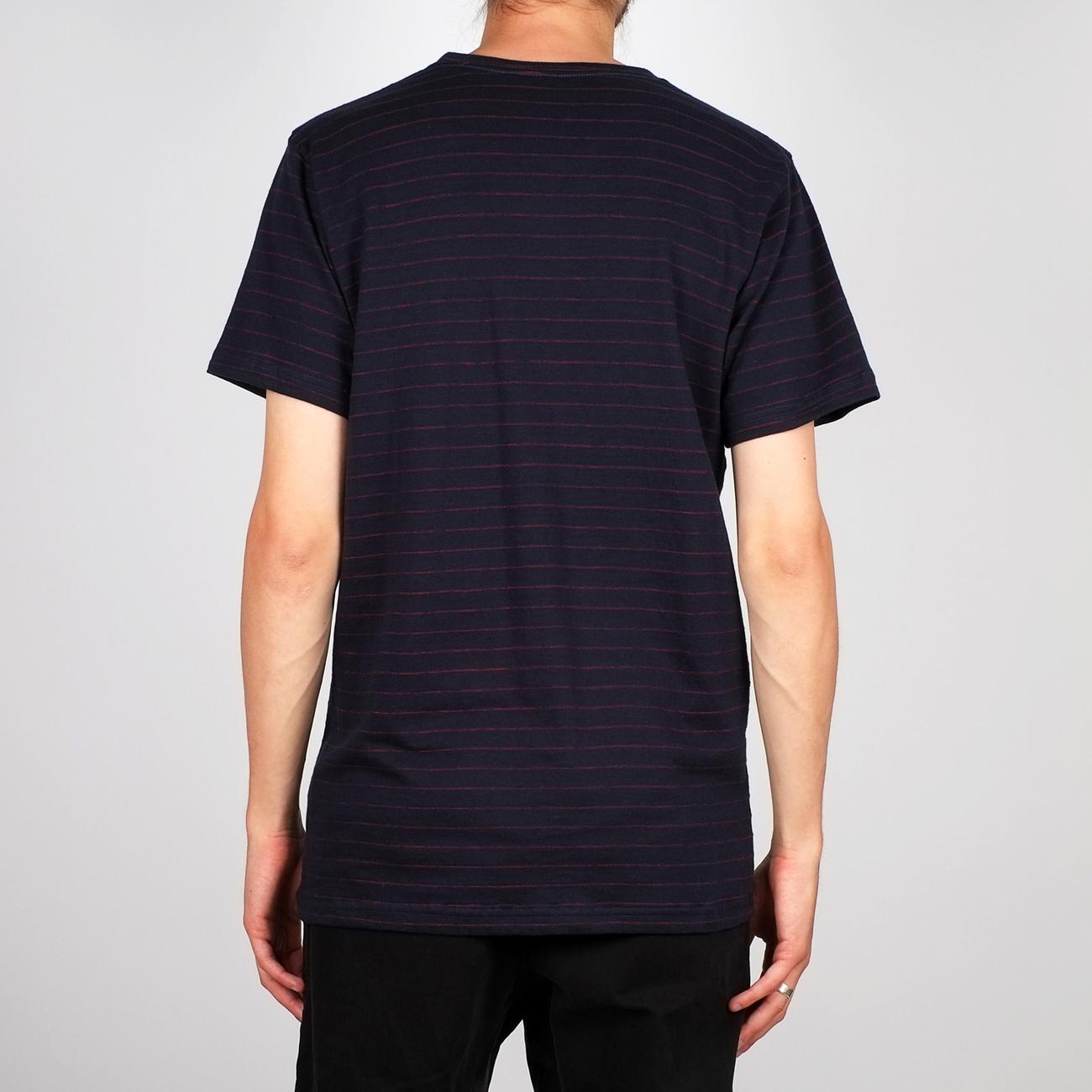 T-shirt Stockholm Jacquard Stripes Navy