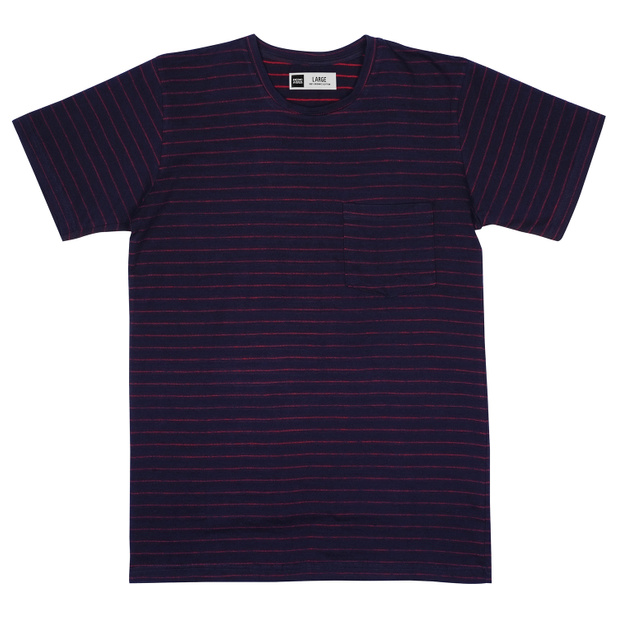 T-shirt Stockholm Jacquard Stripes Navy