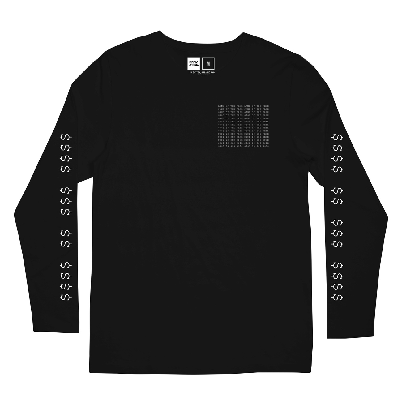 ec041c5f01df DEDICATED - Long Sleeve T-shirt Hasle Land of the Free in Black ...