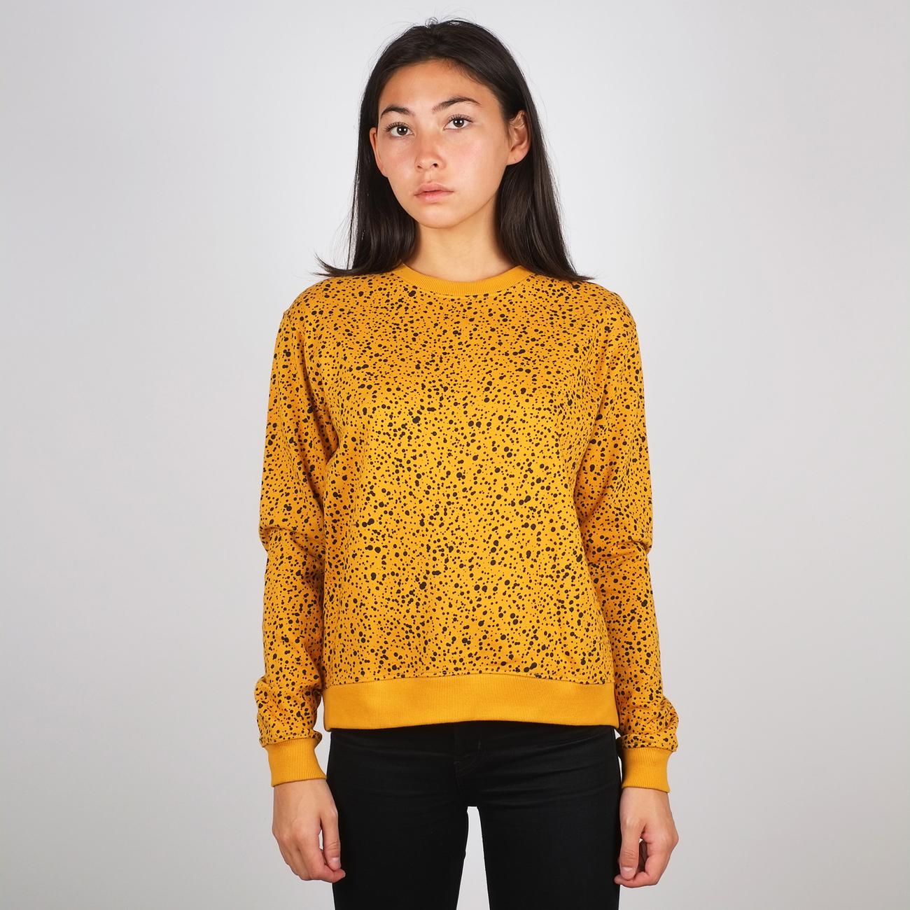 Sweatshirt Ystad Dots Mustard