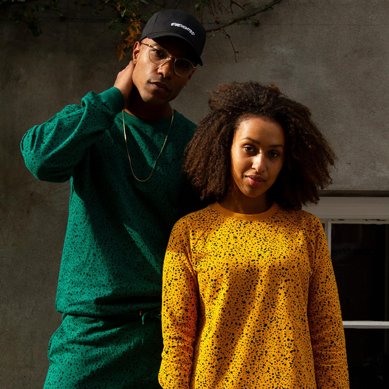Sweatshirt Roskilde Dots Mustard