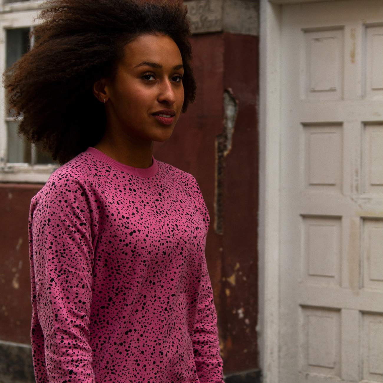 Sweatshirt Roskilde Dots Heather Rose