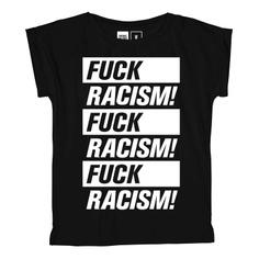 T-shirt Visby Fuck Racism Black