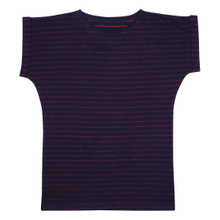 T-shirt Visby Jacquard Stripes Navy