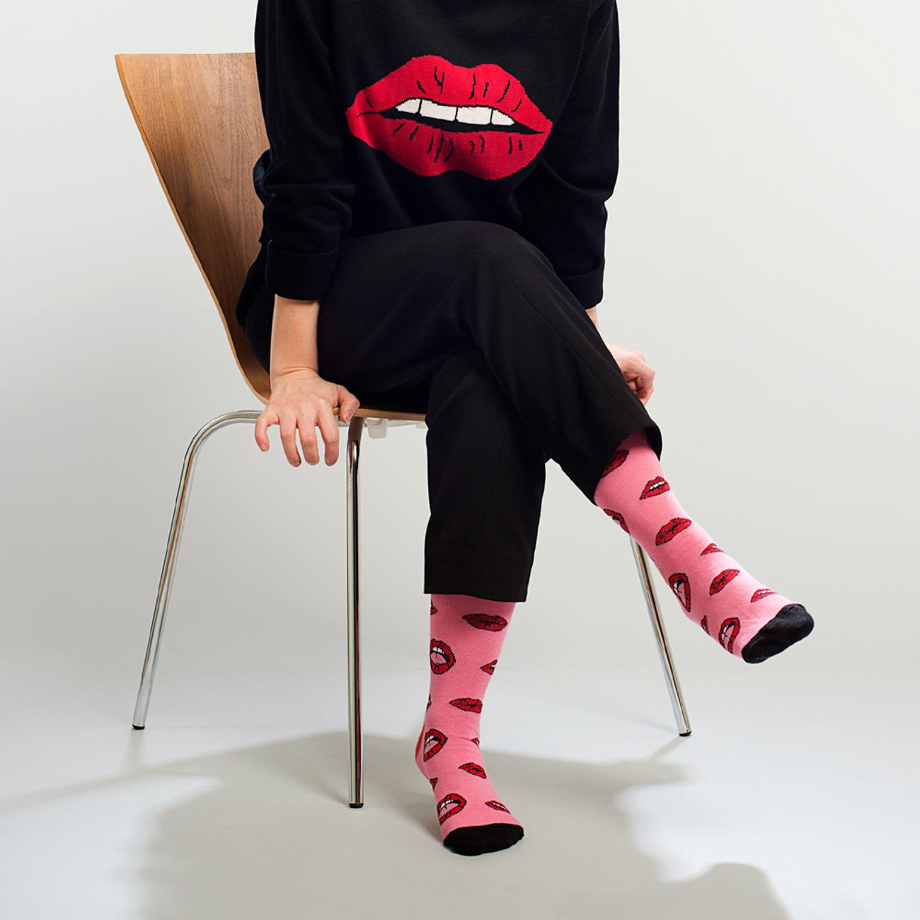 Socks Sigtuna Lips Pink