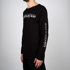 Long Sleeve T-shirt Hasle Fade Logo Black