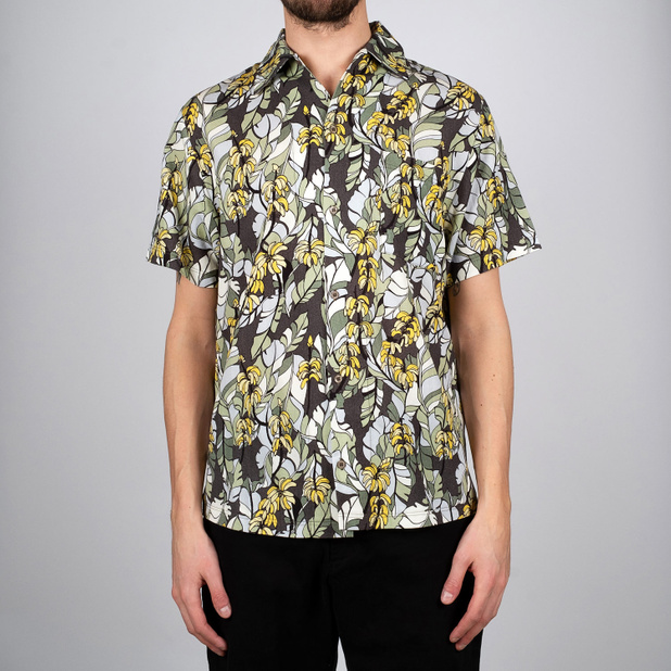 Skjorta Short Sleeve Marstrand Banana Leaves