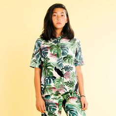 Shirt Short Sleeve Nibe Color leaves