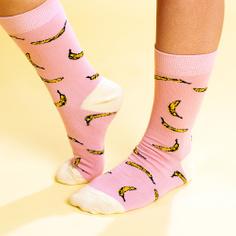 Socks Sigtuna Bananas Pink