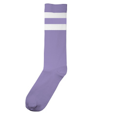 Socks Vadstena Double Stripes Violet Tulip