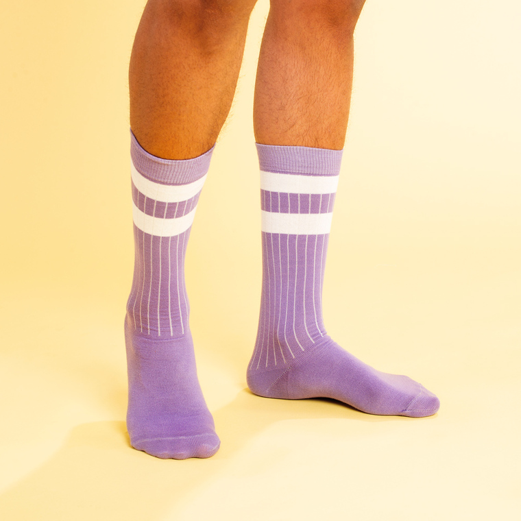6b424db9038f new_arrivalSocks Vadstena Double Stripes Violet TulipOrganic cotton