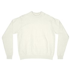 Stickad tröja Viborg Mesh Off-White