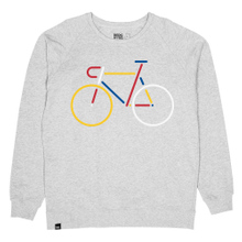 Sweatshirt Malmoe Color Bike Grey Melange