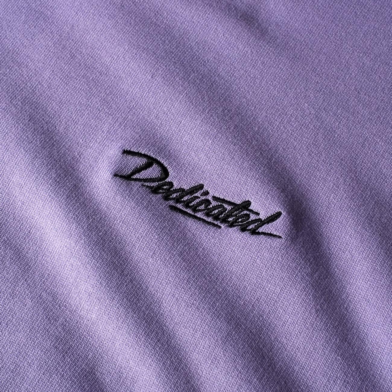 Sweatshirt Malmoe Dedicated Script Violet Tulip