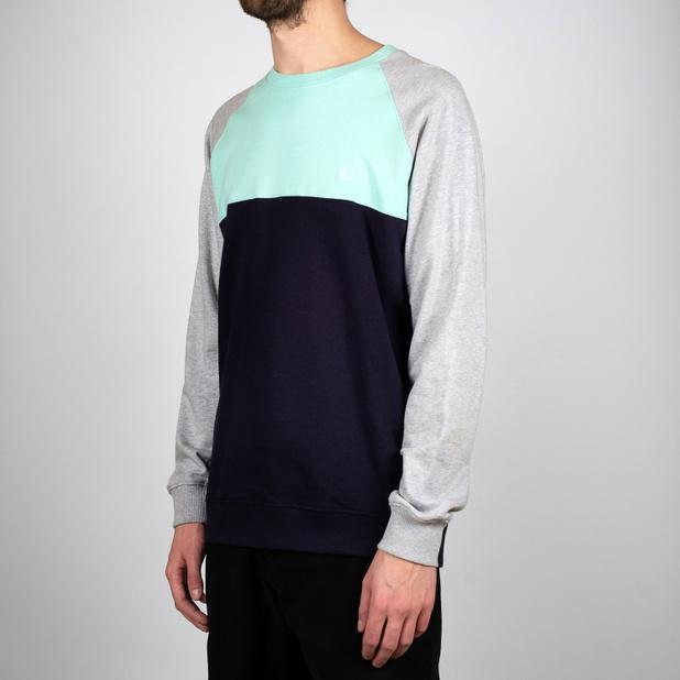 Sweatshirt Malmoe Split Blue Tint