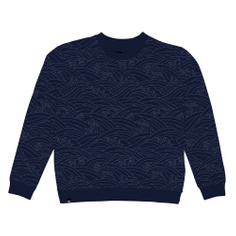 Sweatshirt Ystad Japanese Waves