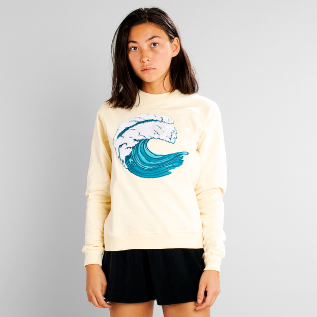 Sweatshirt Ystad Wave Pale Yellow